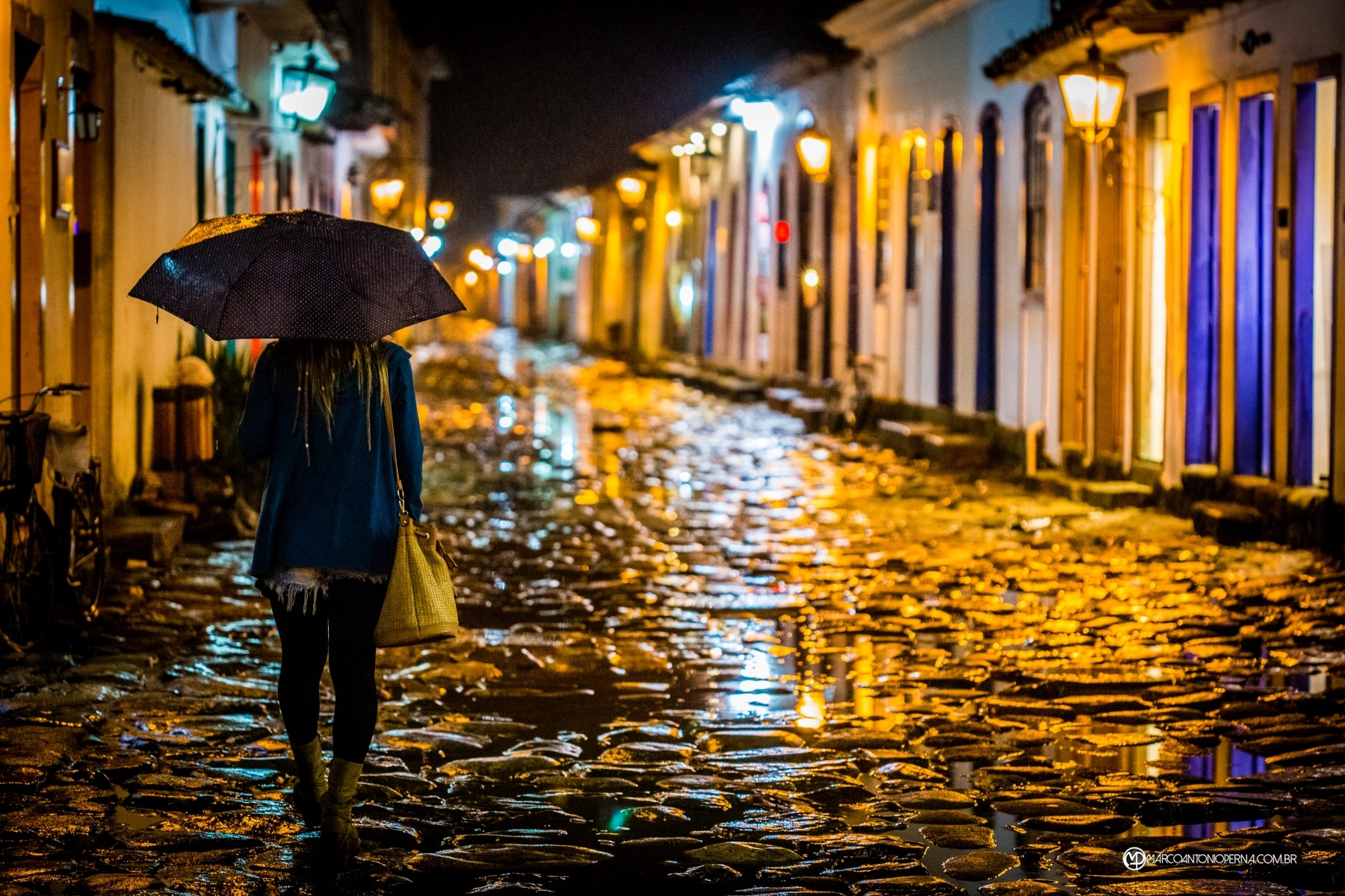 Rainy night in Paraty -