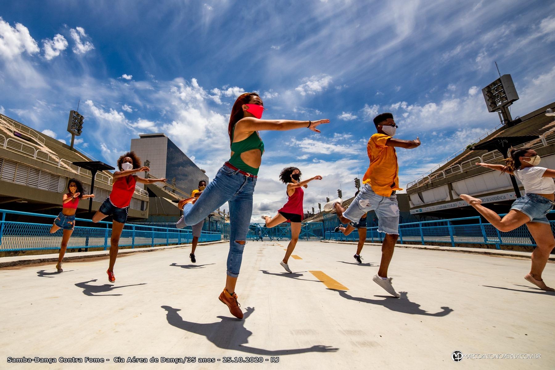 Samba-Dança Contra Fome - Cia Aérea de Dança/35 anos 25.10.2020 Sambódromo - Rio de Janeiro - RJ